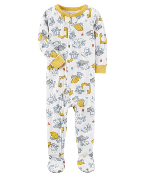 1-Piece Construction Snug Fit Cotton PJs