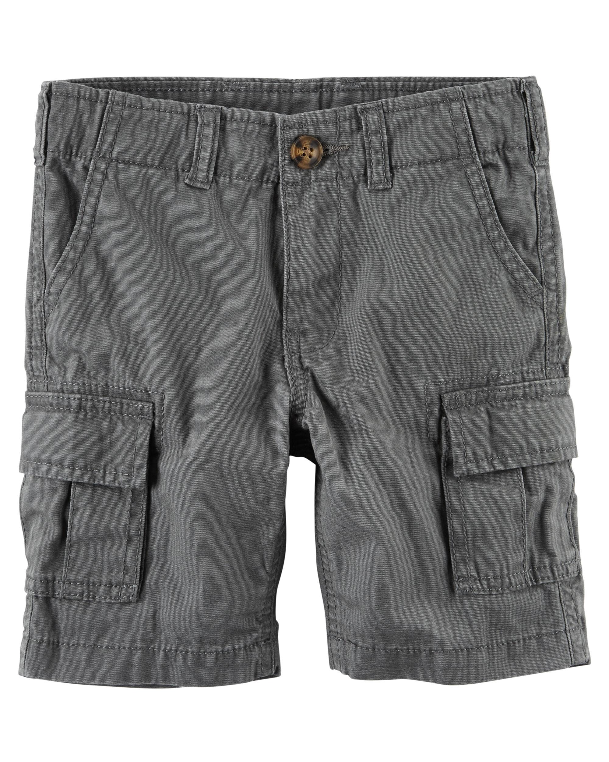 Carters Boys Canvas Cargo Shorts Grey 9m