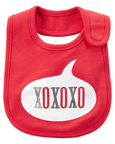 Valentine S Day Xoxo Teething Bib Carters Com
