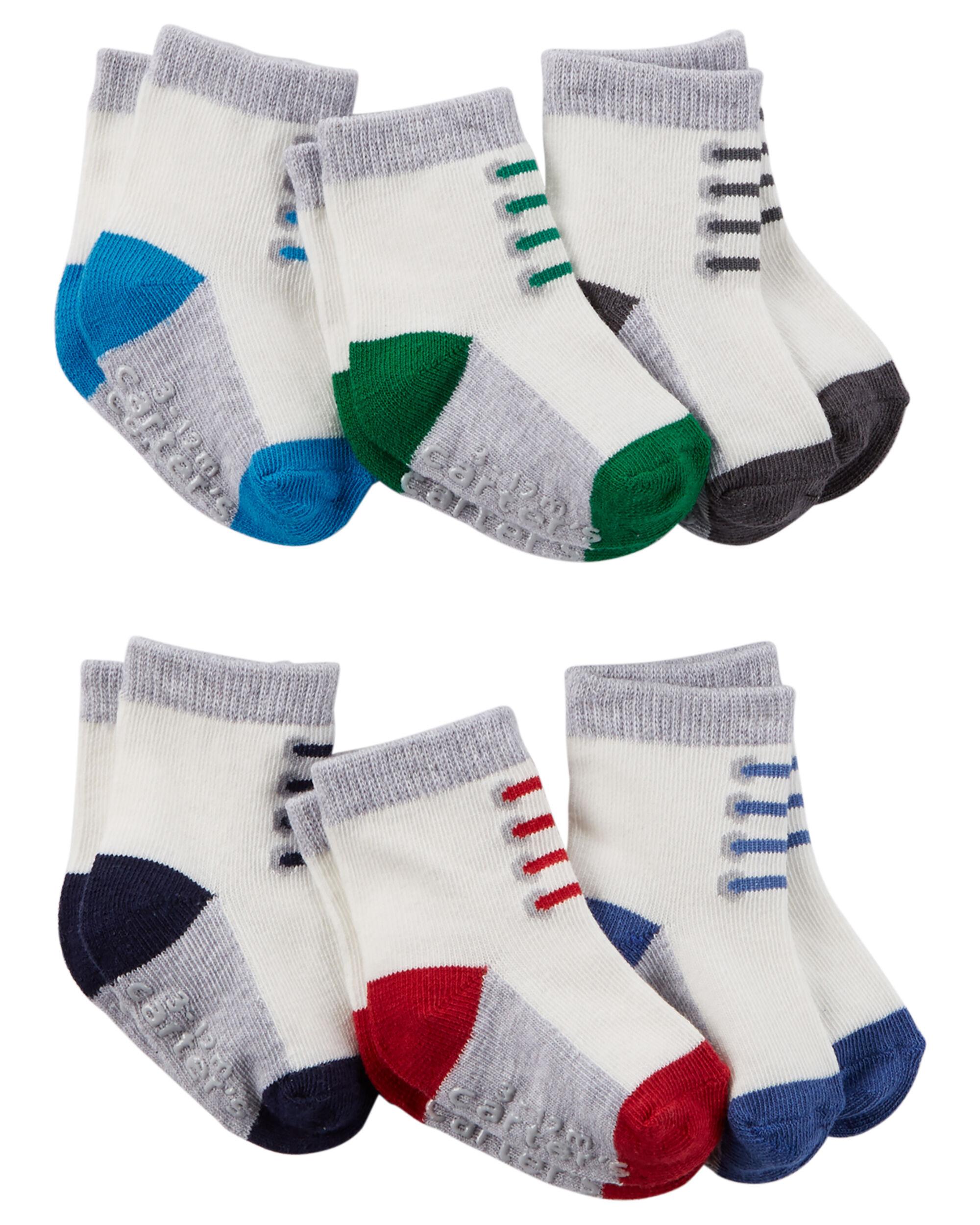 6 Pack Sneaker Socks