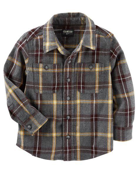 aab13441bdcb Baby Boy Button-Front Plaid Shirt