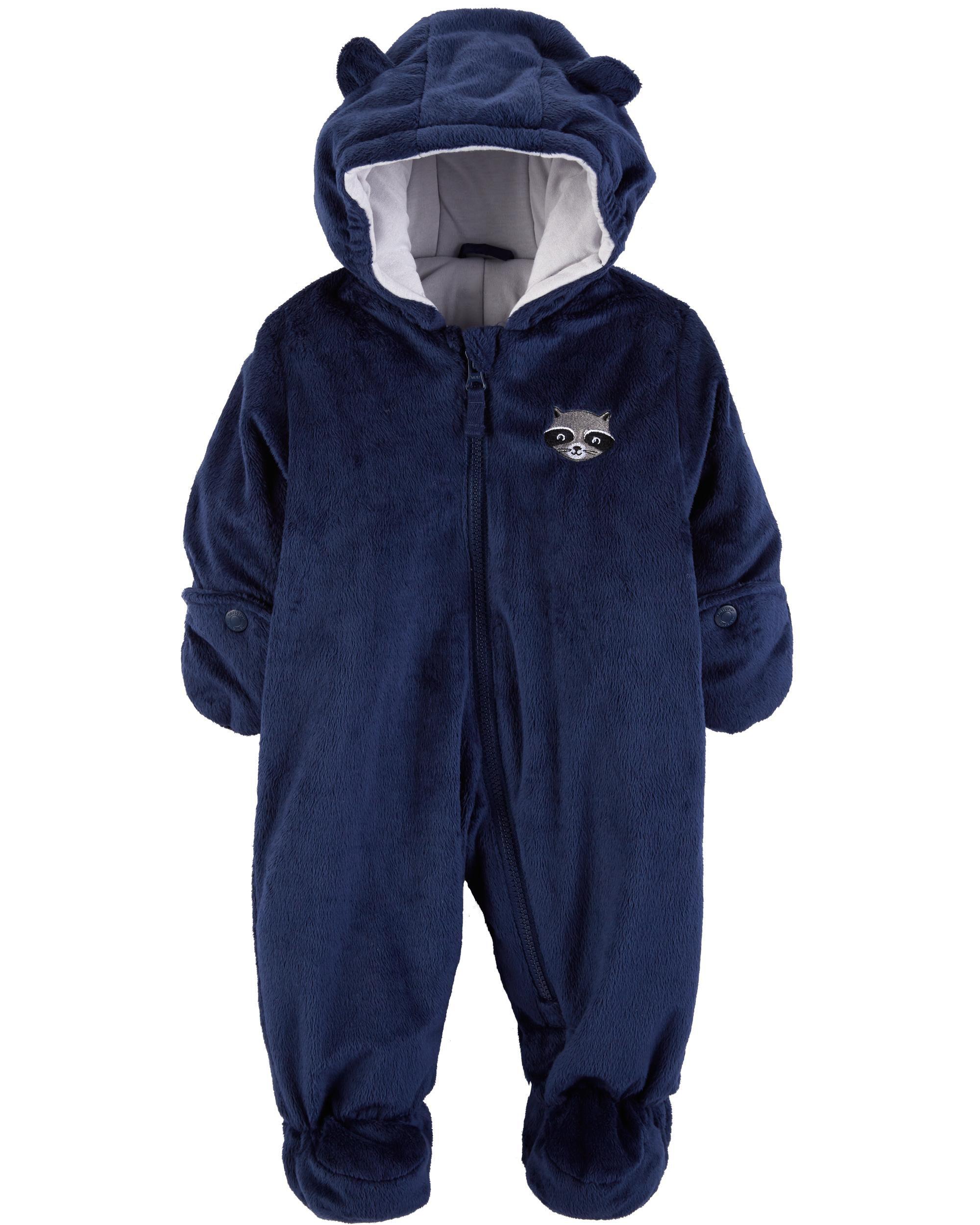 5536e1e6c Raccoon Fuzzy Pram Suit