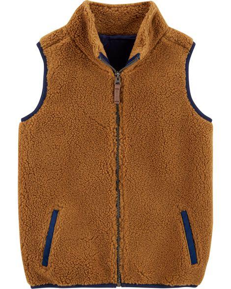 9e3ef0255563 Zip-Up Sherpa Vest