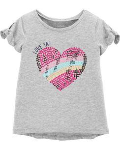 39f99ee931019 Sequin Heart Hi-Lo Tee