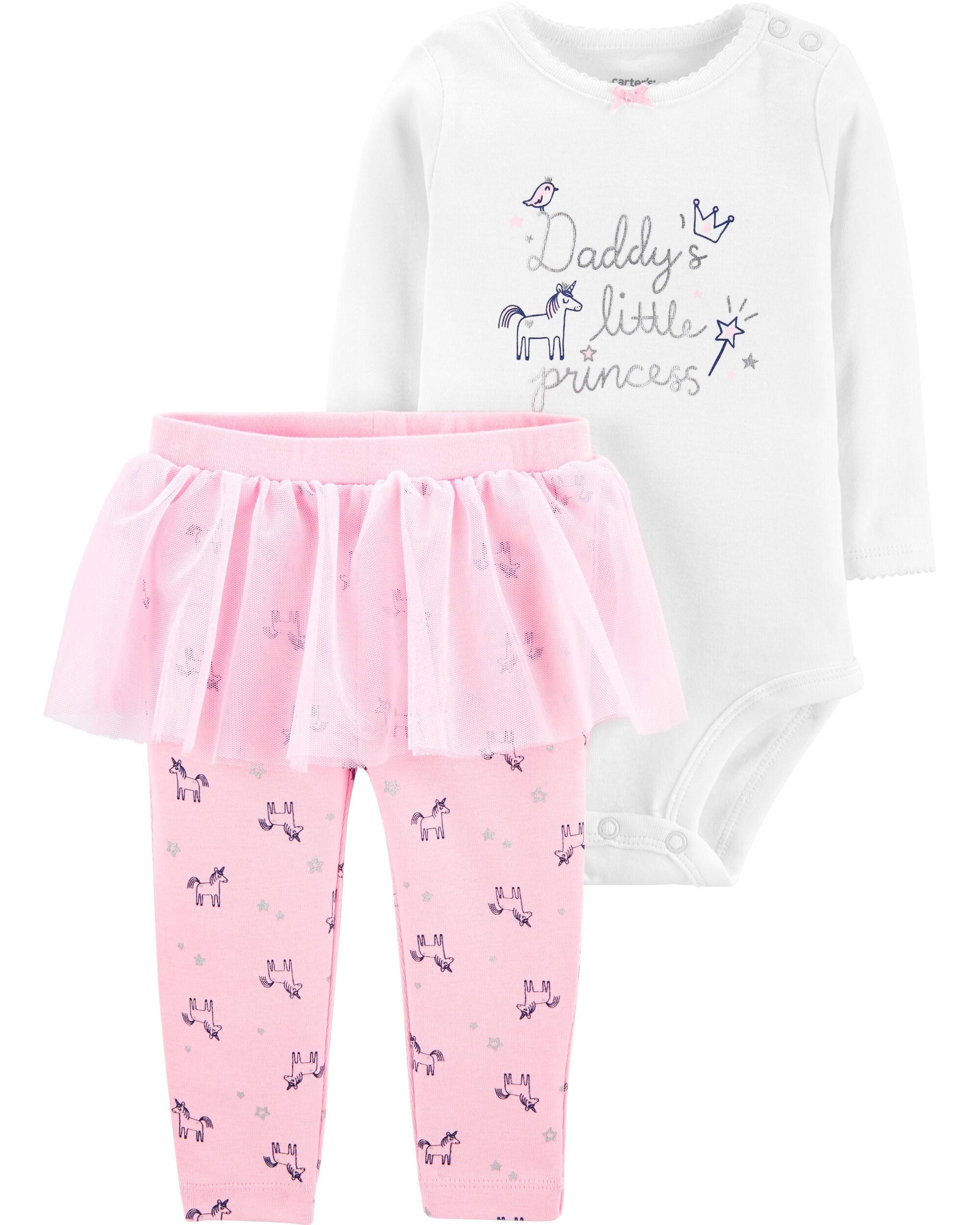 *DOORBUSTER* 2-Piece Daddy's Little Princess Bodysuit & Tutu Pant Set
