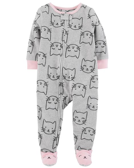 b5df7415554d 1-Piece Kitty Fleece PJs