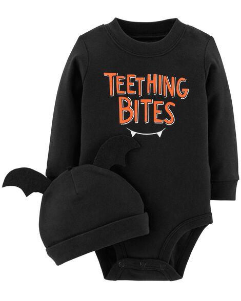 479cbb6ad301 2-Piece Halloween Bodysuit   Cap Set