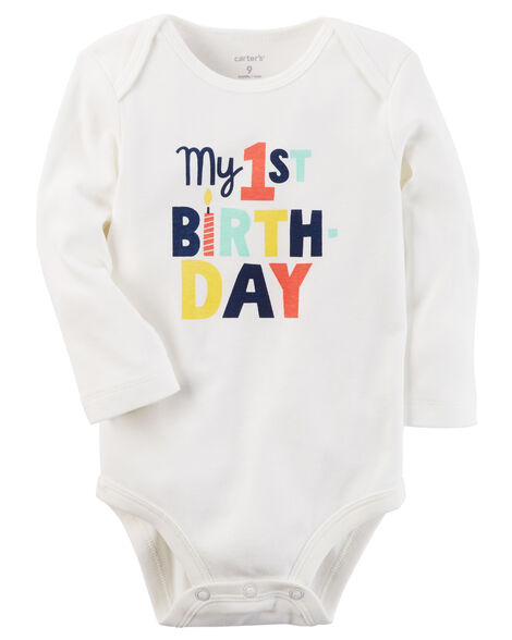 Images My 1st Birthday Collectible Bodysuit