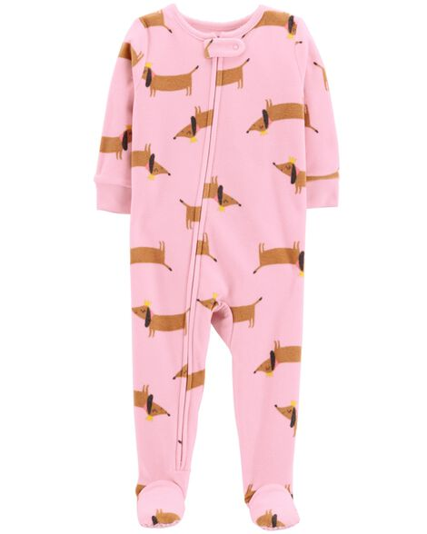 60fddd9ba6a4 1-Piece Dog Fleece PJs