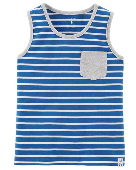 Striped Jersey Tank | Tuggl