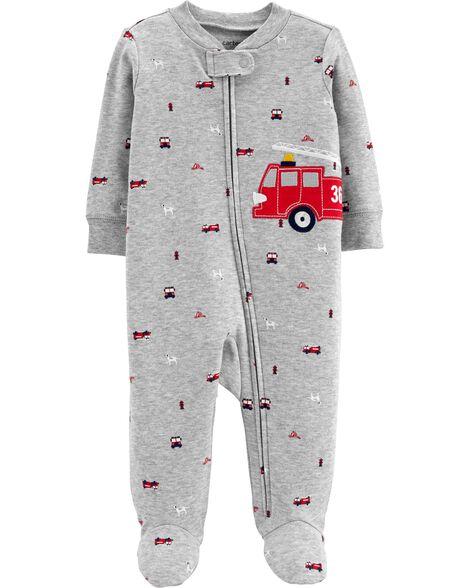 7eb590095 Firetruck Zip-Up Cotton Sleep & Play   Carters.com