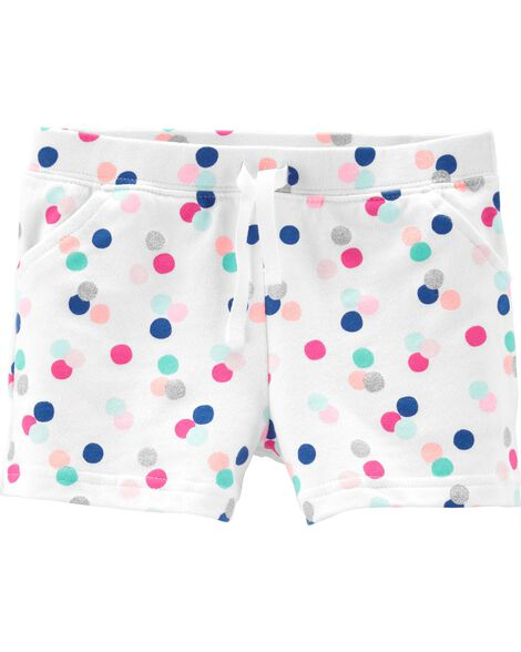 Polka Dot French Terry Shorts