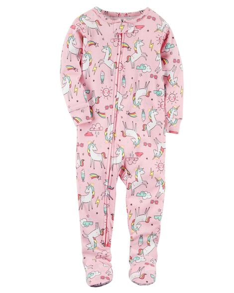 cf50986ccd86 1-Piece Unicorn Snug Fit Cotton PJs