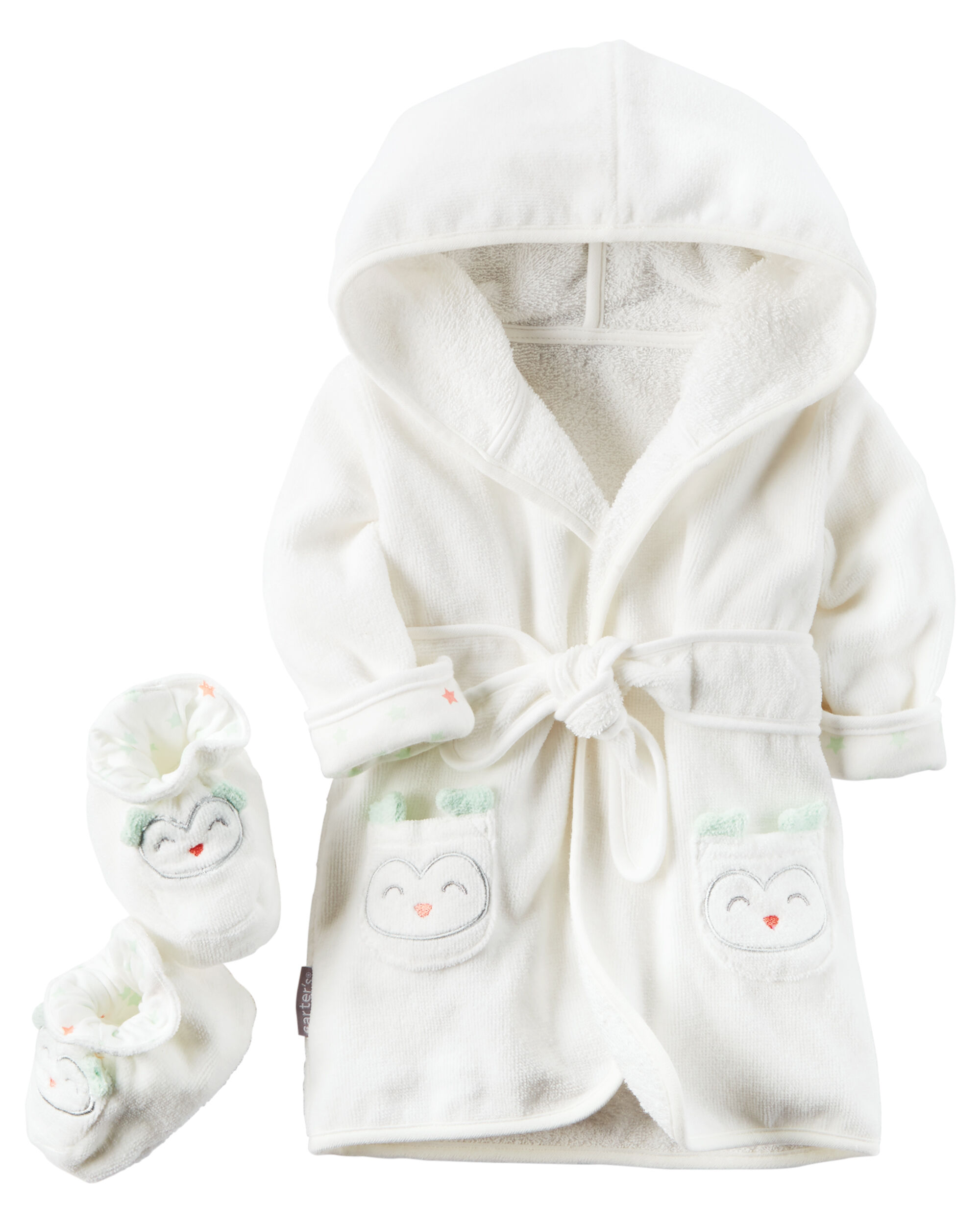 2 Pack Hooded Owl Robe and Booties