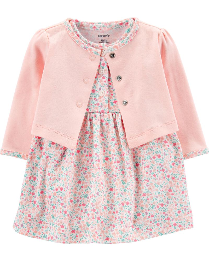 NWT 3p Set Carter/'s Baby Girl BODYSUIT+Swing Dress+RUFFLE BLOOMERS Blue Floral