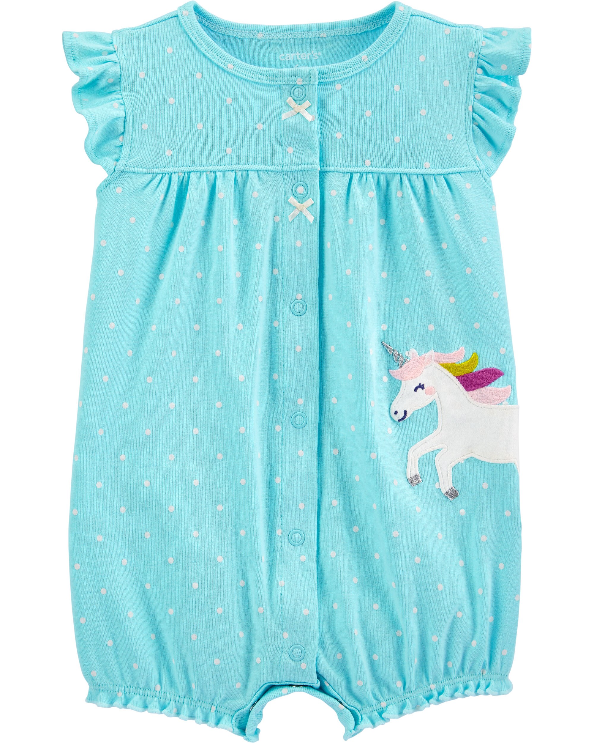 *CLEARANCE* Unicorn Snap-Up Romper