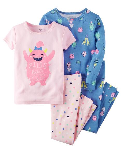4-Piece Snug Fit Glow-In-The-Dark Cotton PJS | Carters.com
