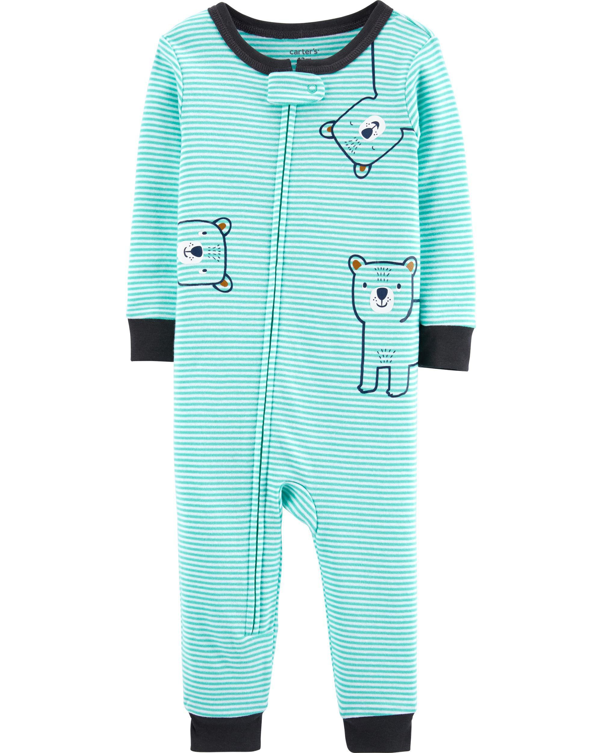 *CLEARANCE* 1-Piece Bear Snug Fit Cotton Footless PJs