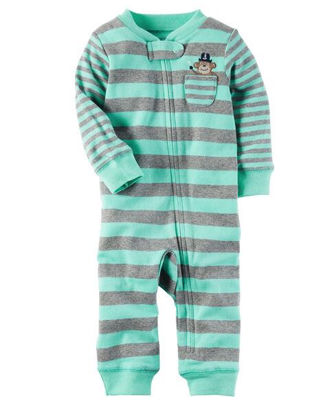 b651414fff7b Cotton Zip-Up Footless Sleep   Play ...