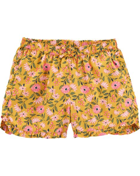 Floral Pull-On Poplin Shorts