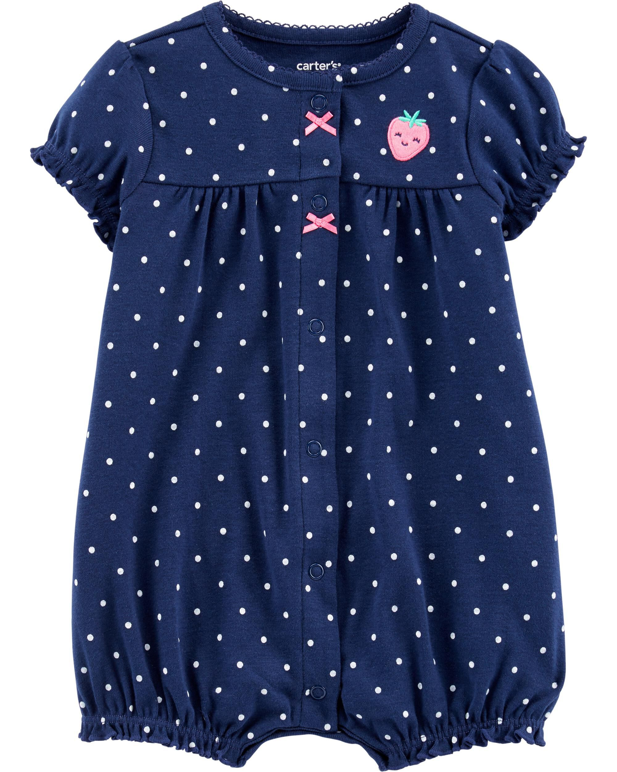 *DOORBUSTER* Strawberry Snap-Up Romper