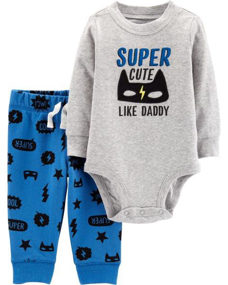2-Piece Superhero Bodysuit Pant Set