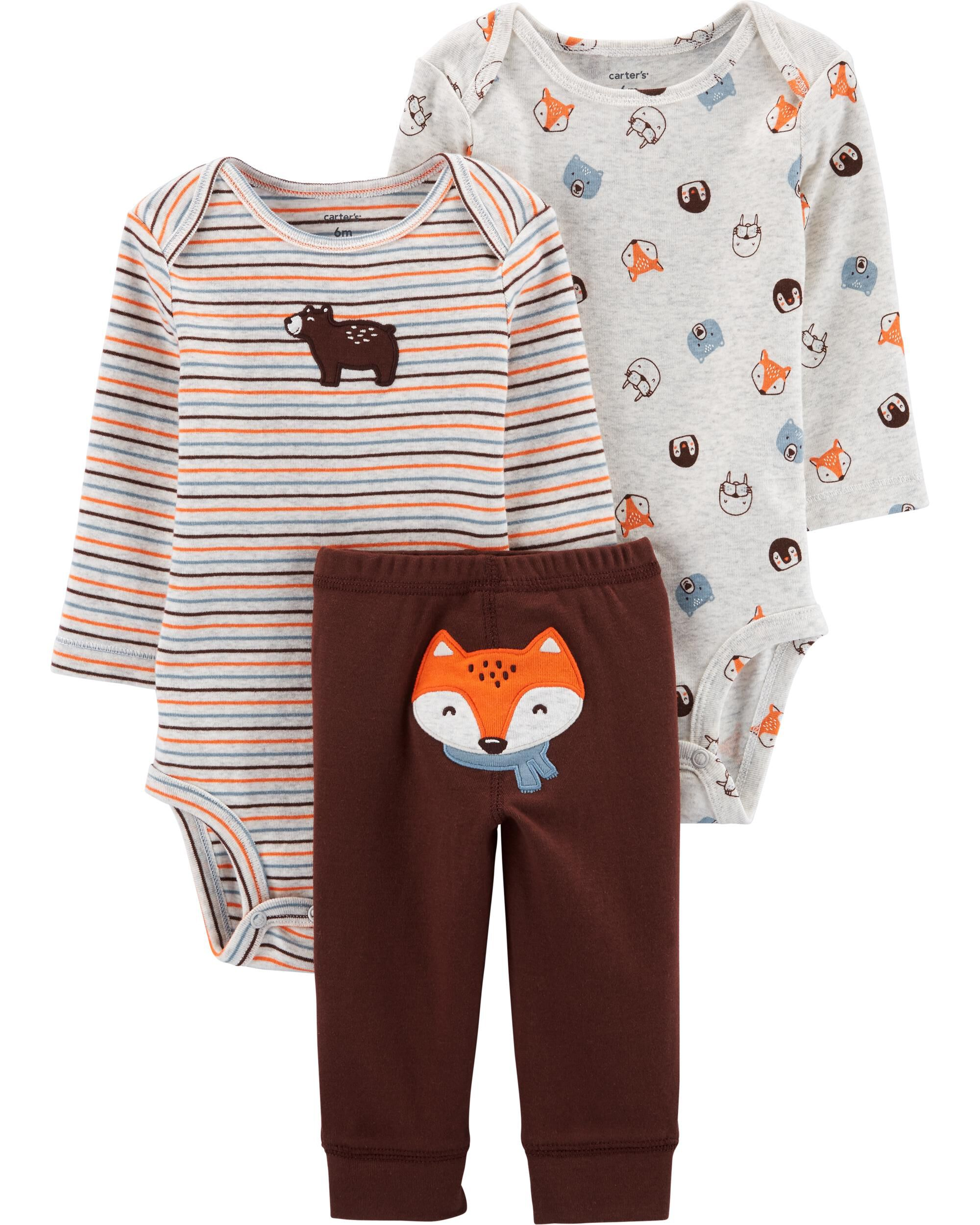 Carters 3 Pc Cotton Baby Toddler Set Leggings Happy Little /& Loved Body Suit
