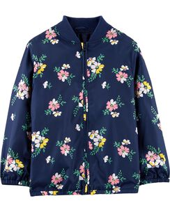 7656327cba8 Floral Fleece-Lined Bomber Jacket