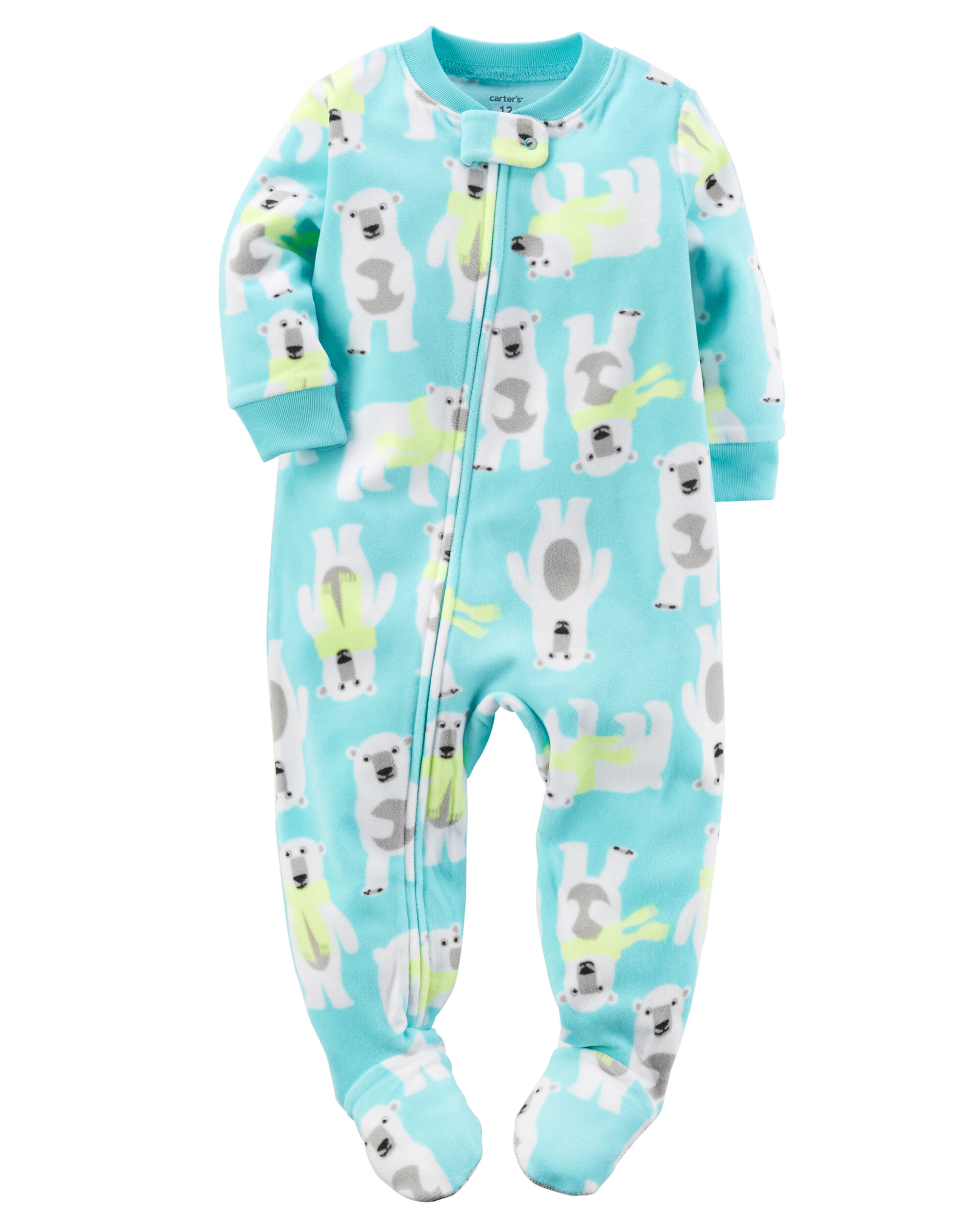 Fleece baby boy pajamas