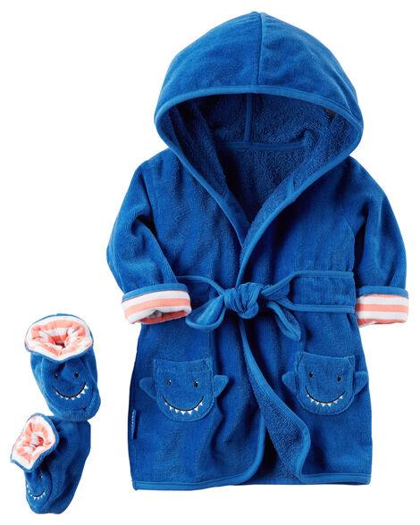 d49000a29b9d 2-Pack Hooded Shark Robe and Booties