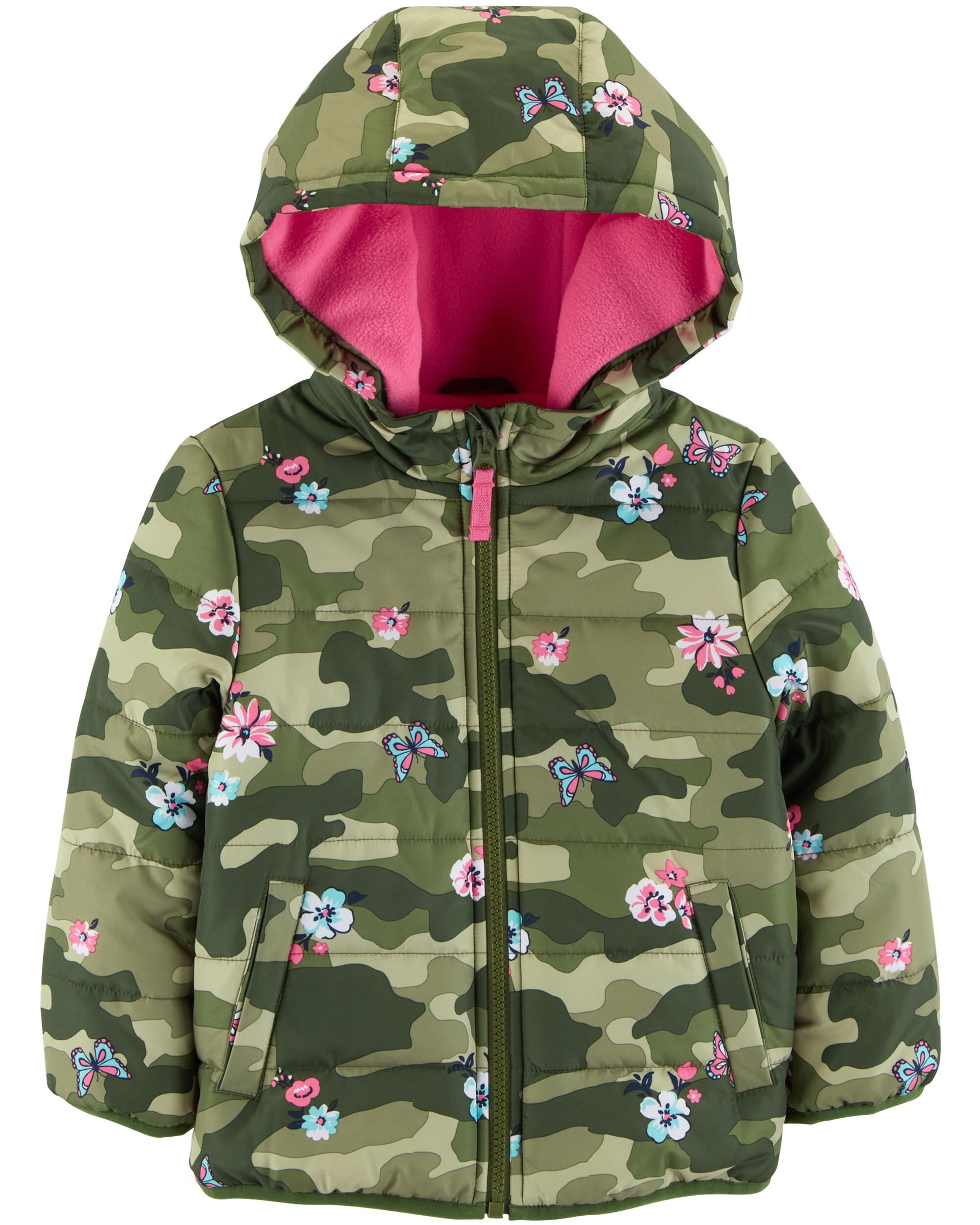 953055f52 Floral Camo Puffer Jacket | Carters.com