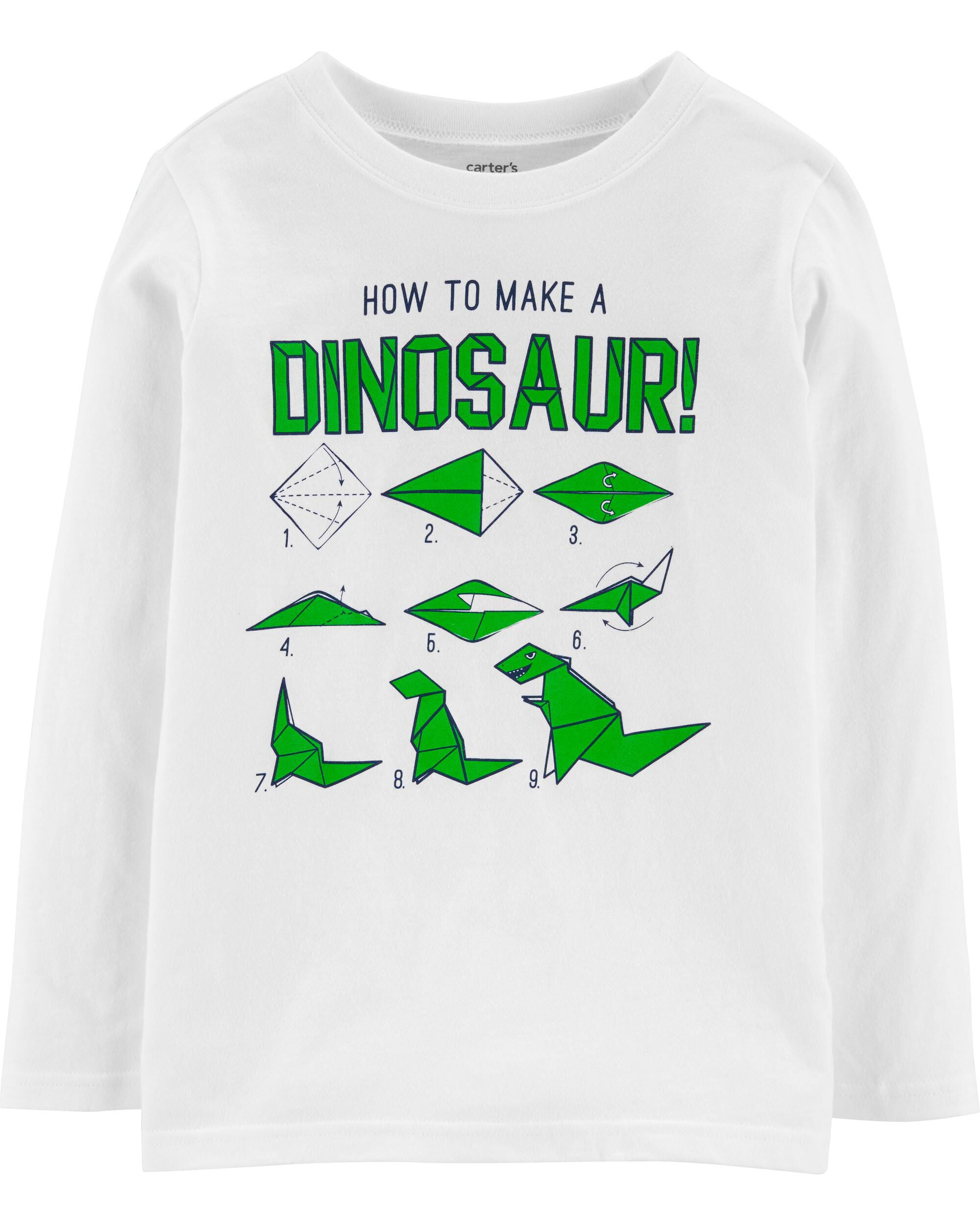 *DOORBUSTER* How To Make A Dinosaur Origami Jersey Tee