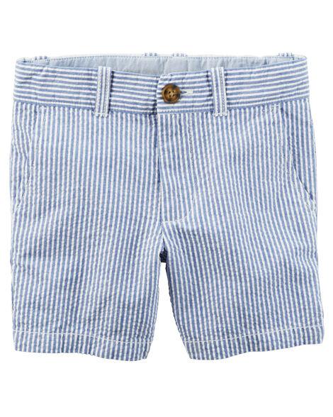 11448bb2b Flat-Front Seersucker Shorts | Carters.com