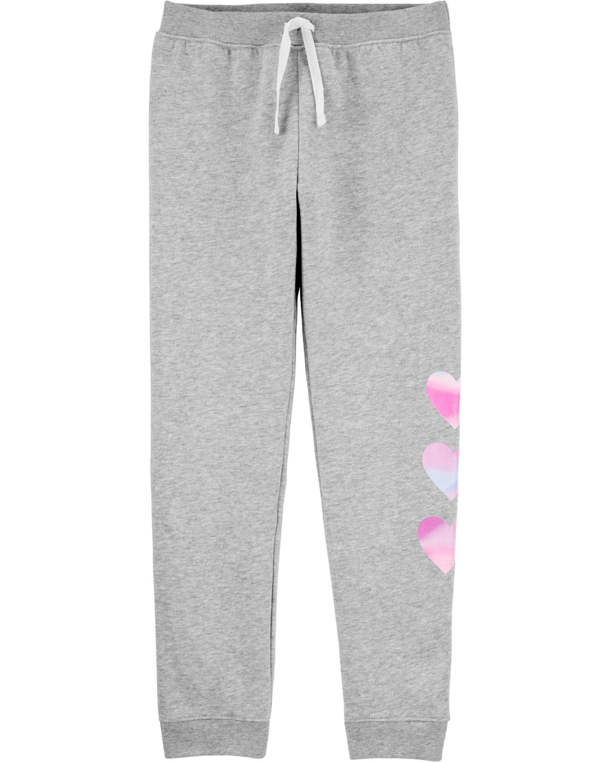 Heart Pull-On Fleece Joggers