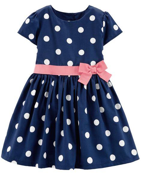 Polka Dot Sateen Dress