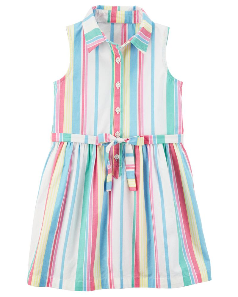 Carters Girls Striped Sleeveless Tunic Blouse
