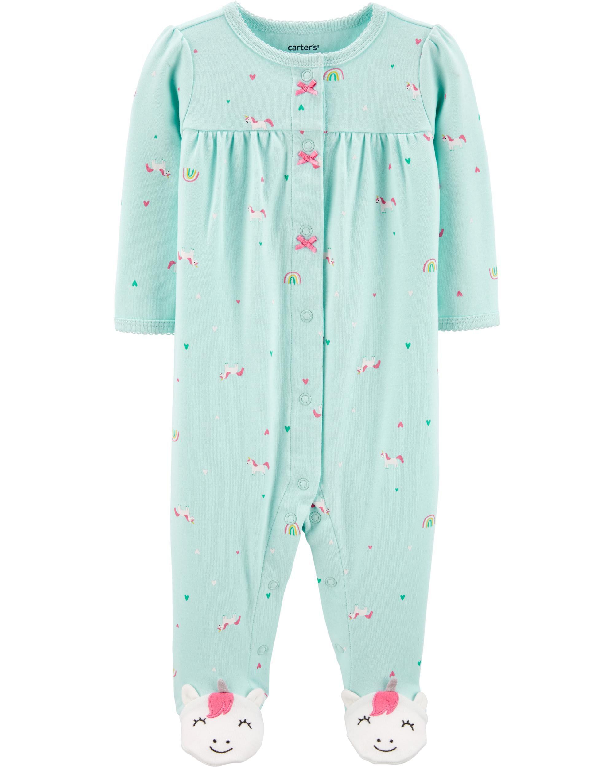 *CLEARANCE* Unicorn Snap-Up Cotton Sleep & Play