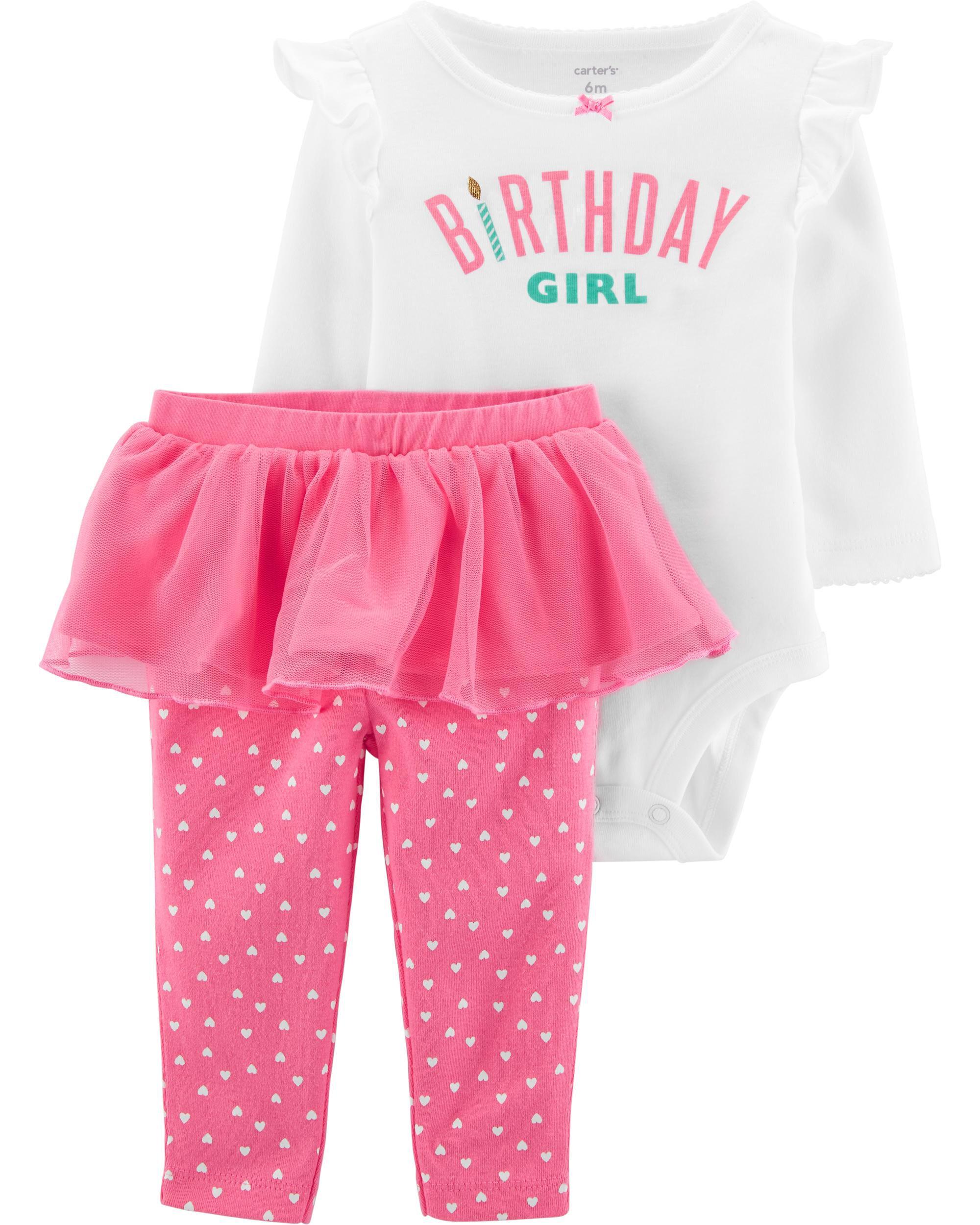 Carters Girls 2T-5T 2-Piece Tee And Tutu Pants Set