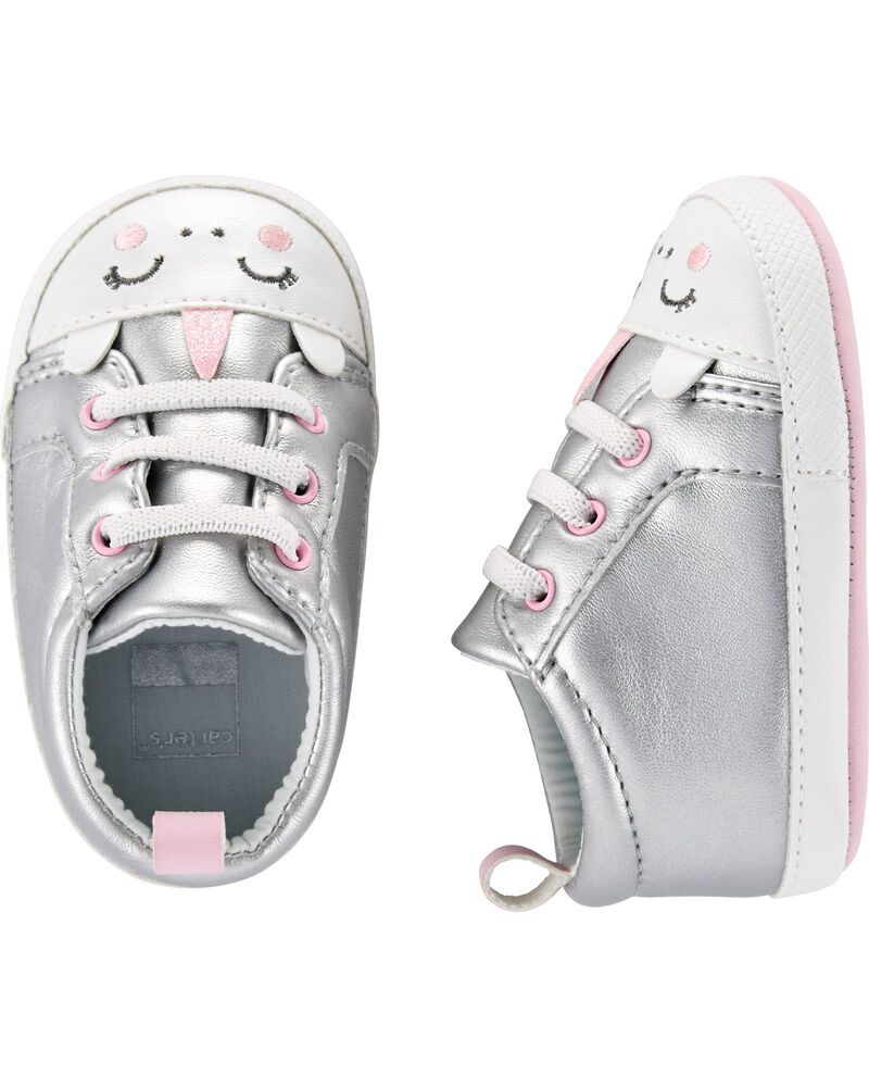 Details about  /Carter/'s 3-6 Months Silver Unicorn Crib Shoes Infant Baby Girl Baby Shower NEW