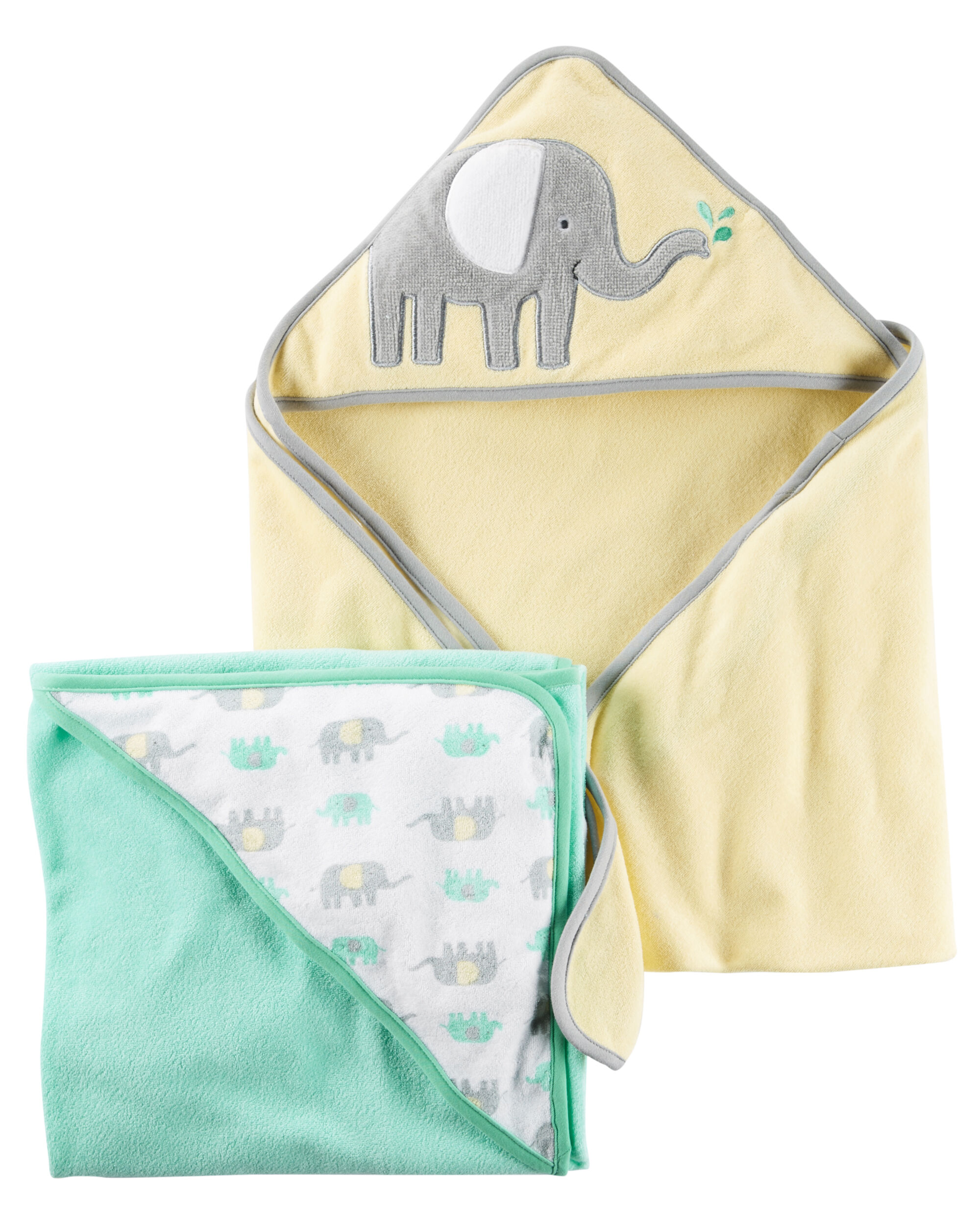 2-Pack Elephant Hooded Towels | Carters.com