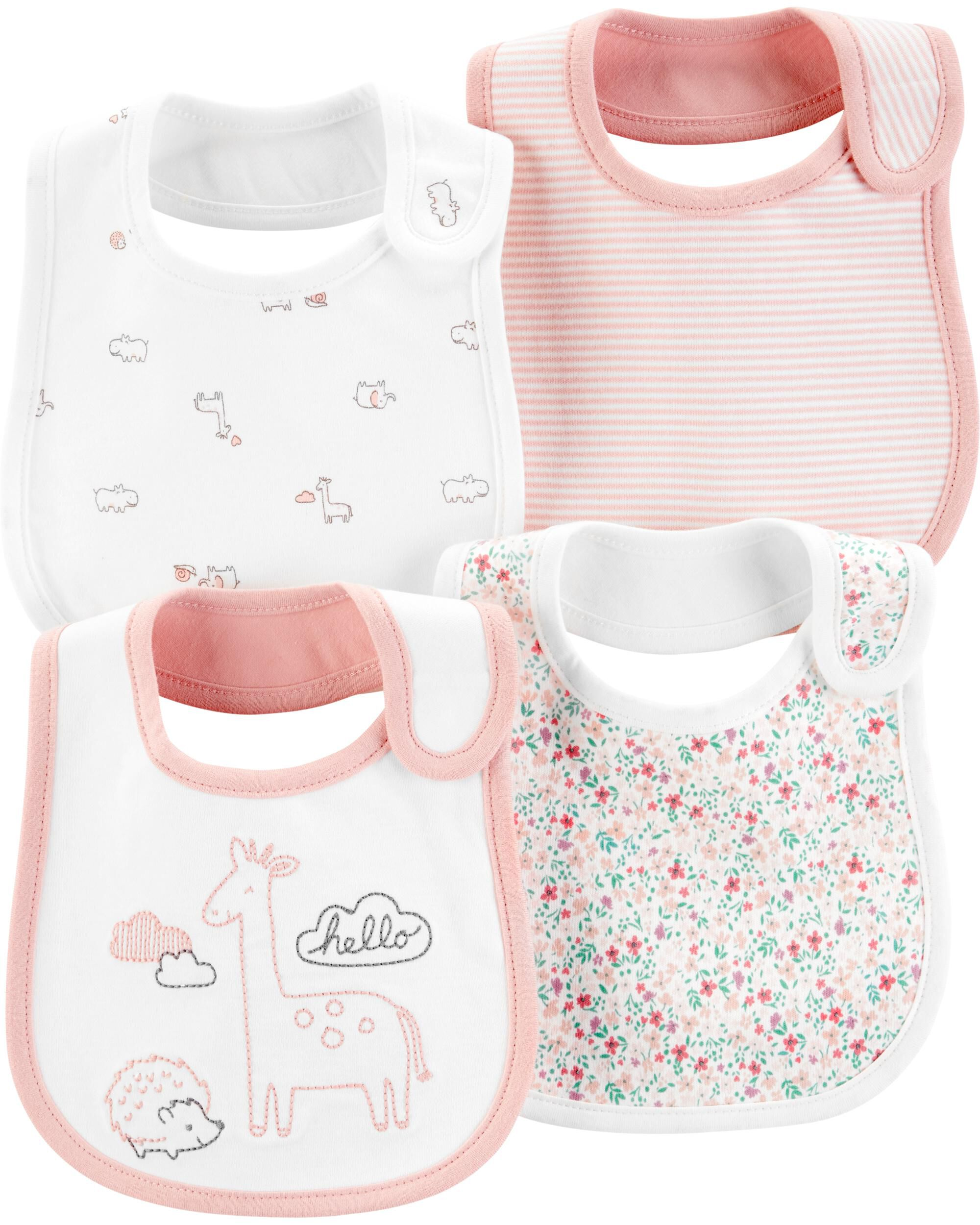 Simple Joys by Carter/'s Baby Girls/' 8-Pack Burp Cloth and Bib Set One Size