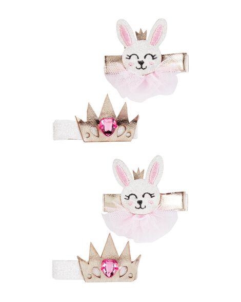 4-Pack Princess Bunny Hair Clips