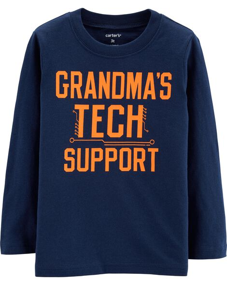 Grandma's Tech Support Jersey Tee