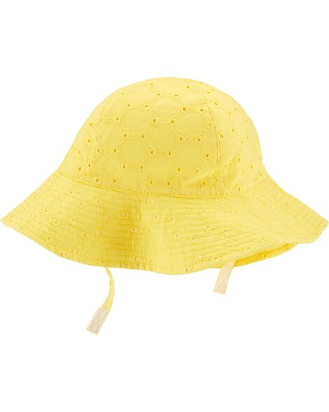 Embroidered Eyelet Sunhat