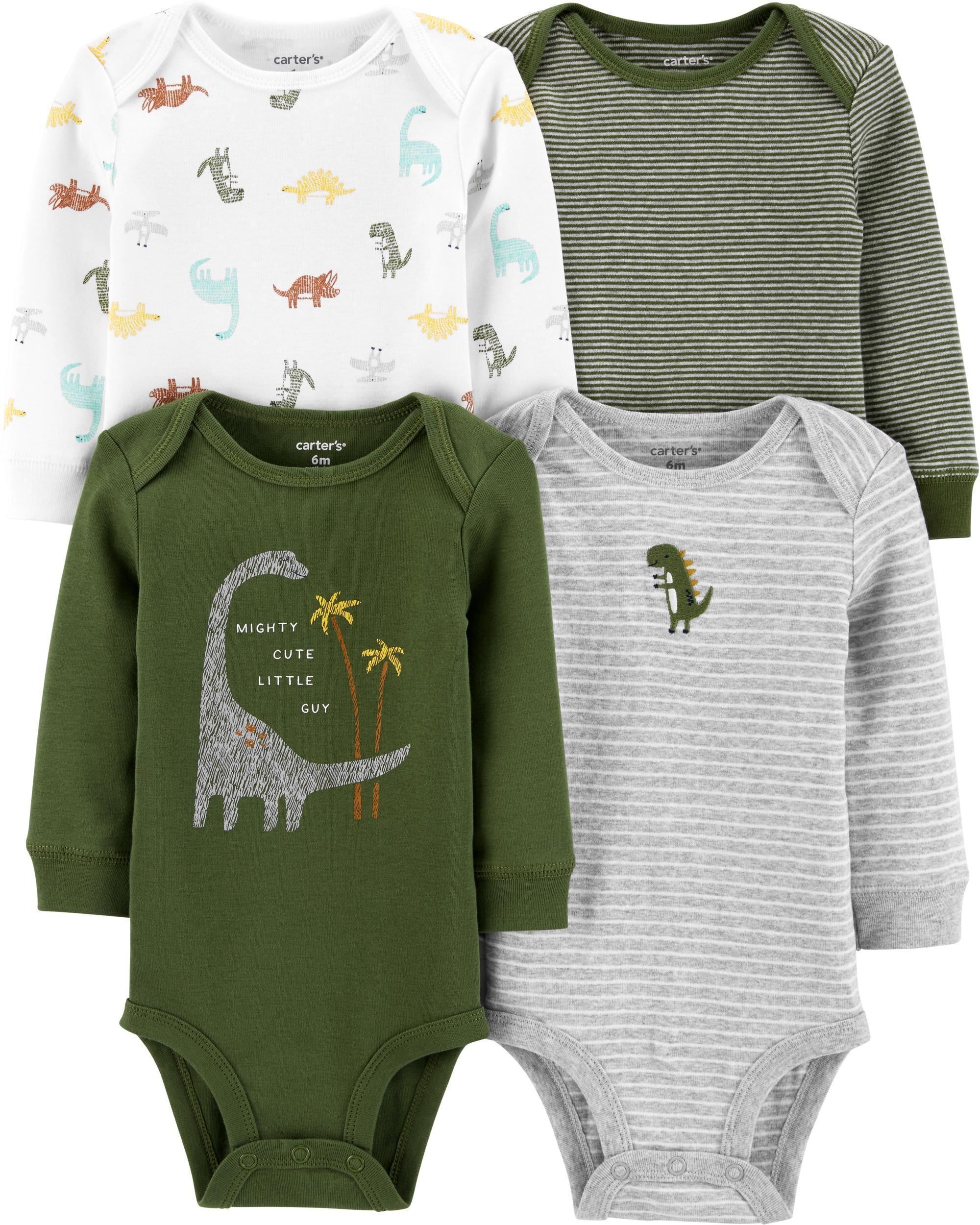 4-Pack Dinosaurs Original Bodysuits