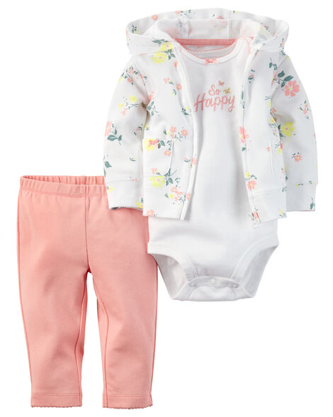 d878c2861 3-Piece Babysoft Cardigan Set | Carters.com