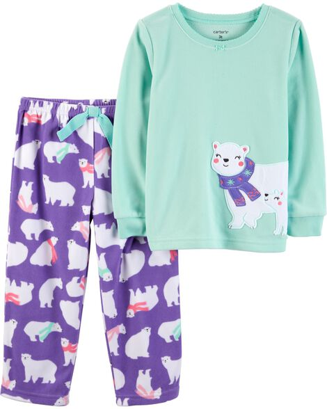 18c9fe07ba21 2-Piece Polar Bear Fleece PJs