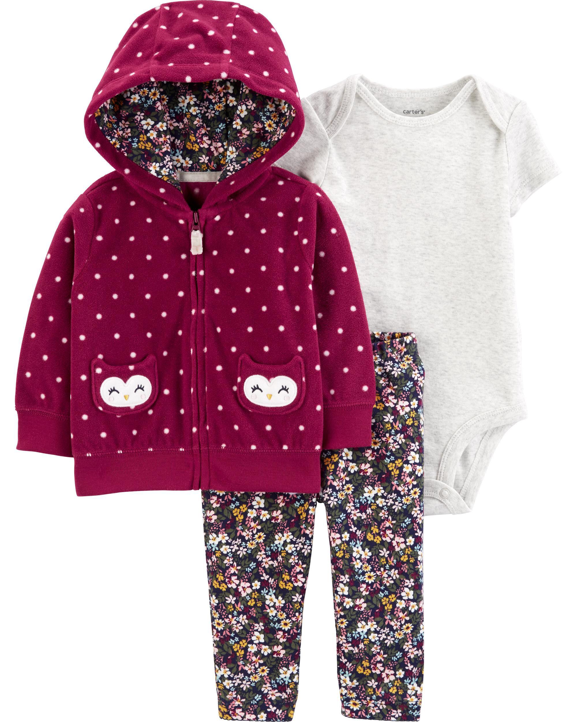 3-Piece Owl Little Jacket Set