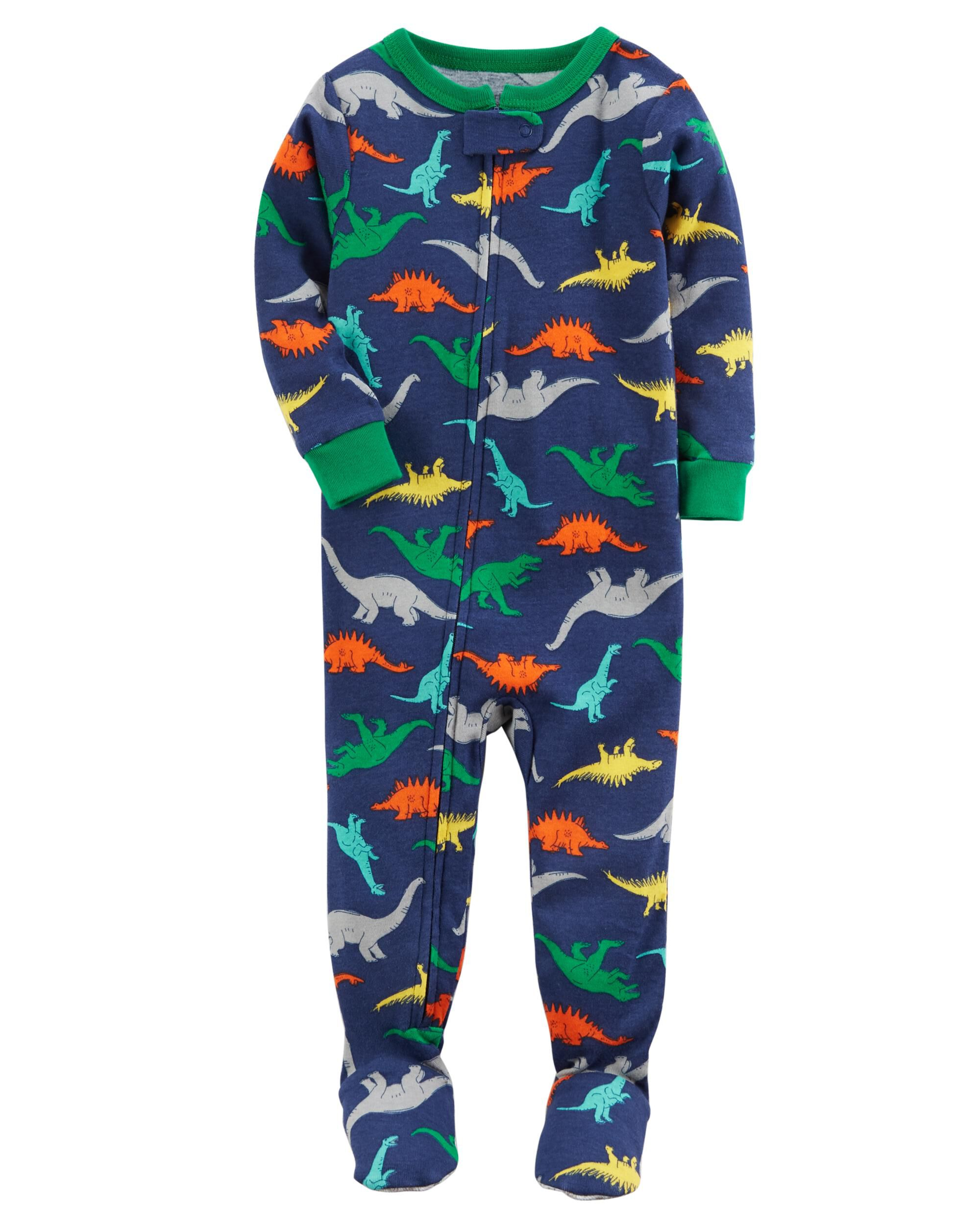 1 Piece Dinosaur Snug Fit Cotton PJs