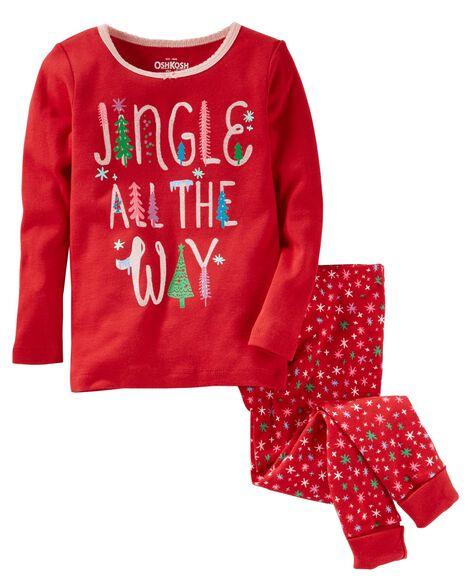 2f056d609 Toddler Girl 2-Piece Jingle Snug Fit Cotton PJs
